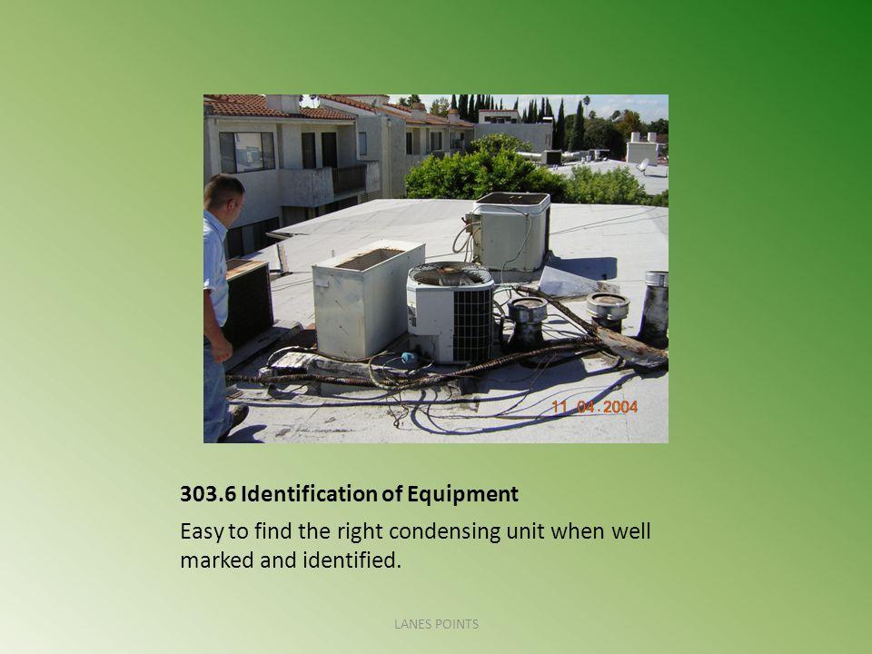 303.6 Identification of Equipment
