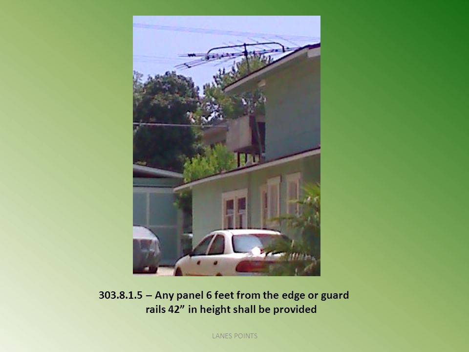 303. 8. 1. 5 – Any panel 6 feet from the edge or guard