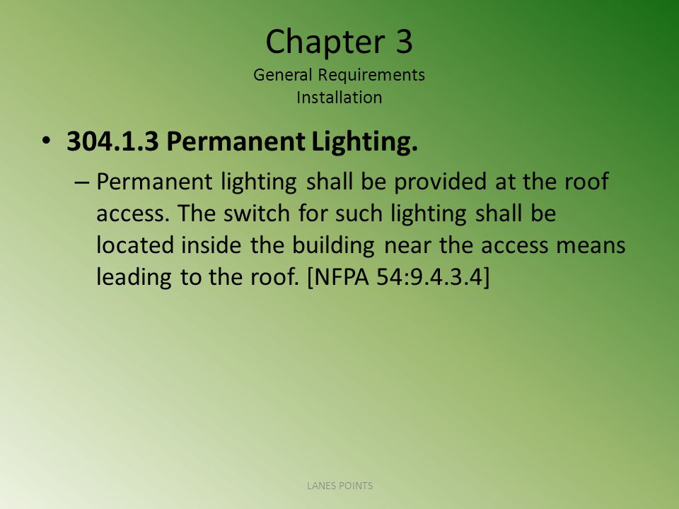 Chapter 3 General Requirements Installation