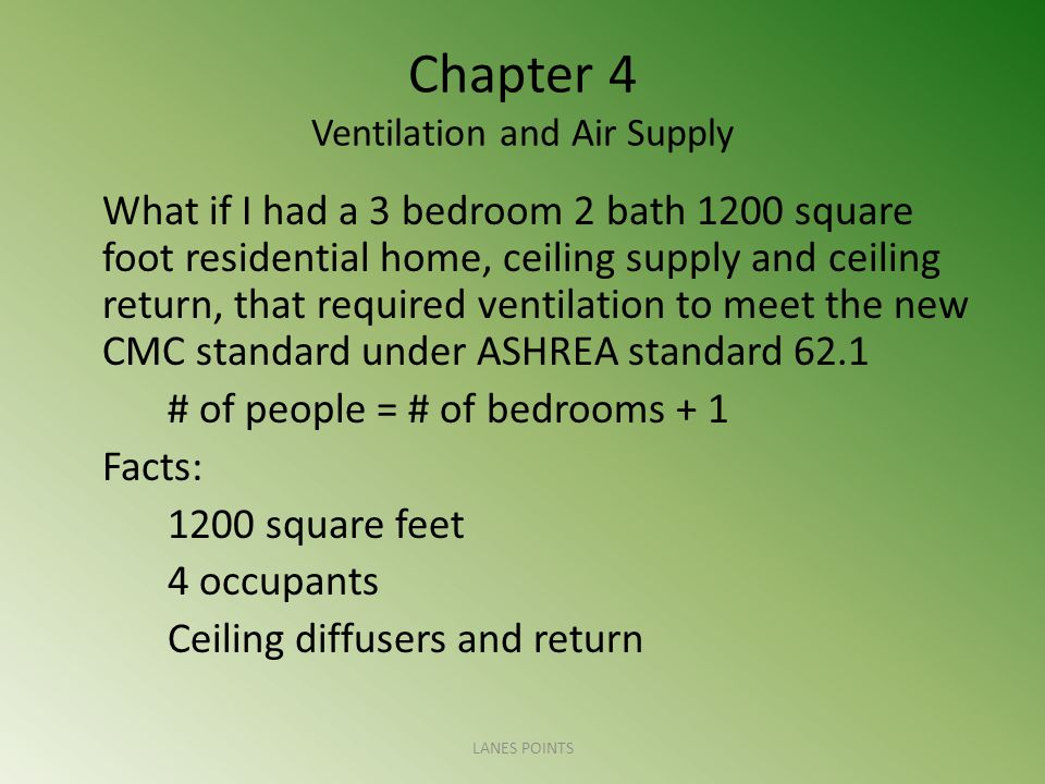 Chapter 4 Ventilation and Air Supply