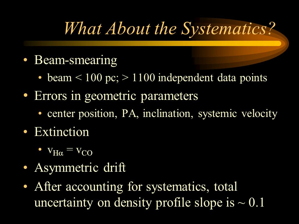 What About the Systematics