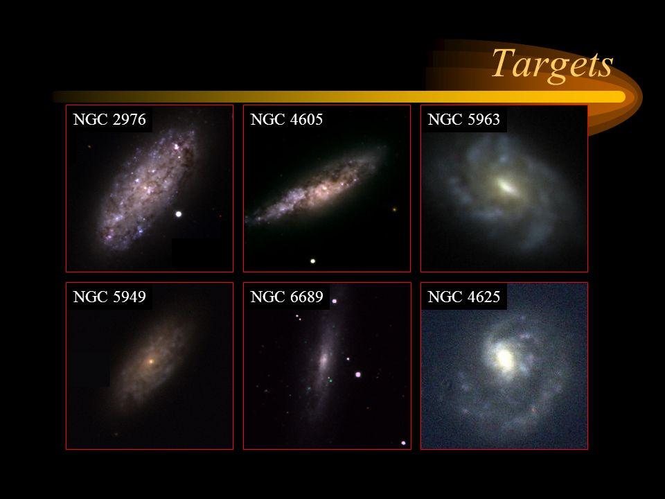 Targets NGC 2976 NGC 4605 NGC 5963 NGC 5949 NGC 6689 NGC 4625