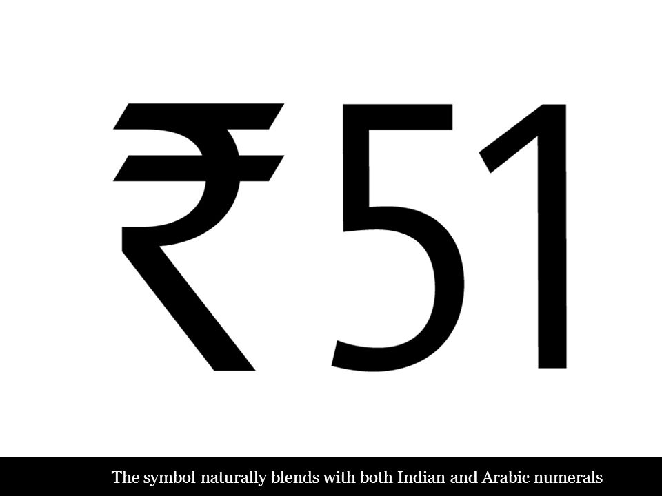 The symbol naturally blends with both Indian and Arabic numerals