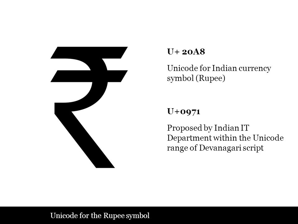 Unicode for Indian currency symbol (Rupee)