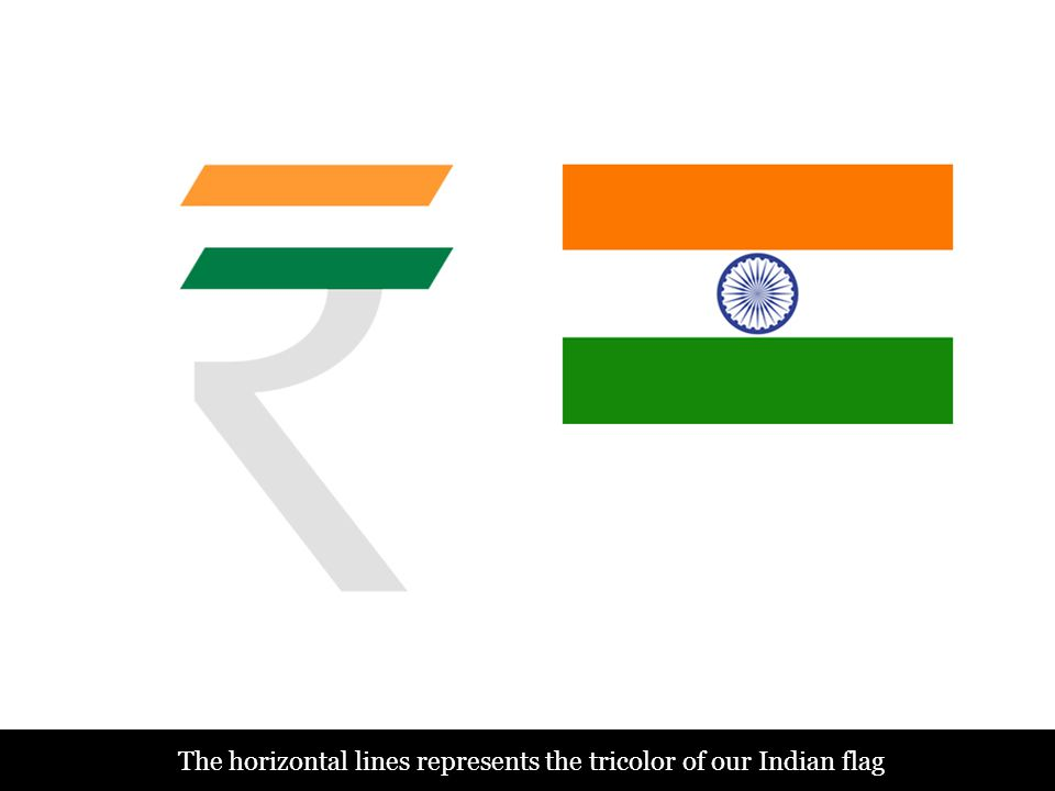 The horizontal lines represents the tricolor of our Indian flag