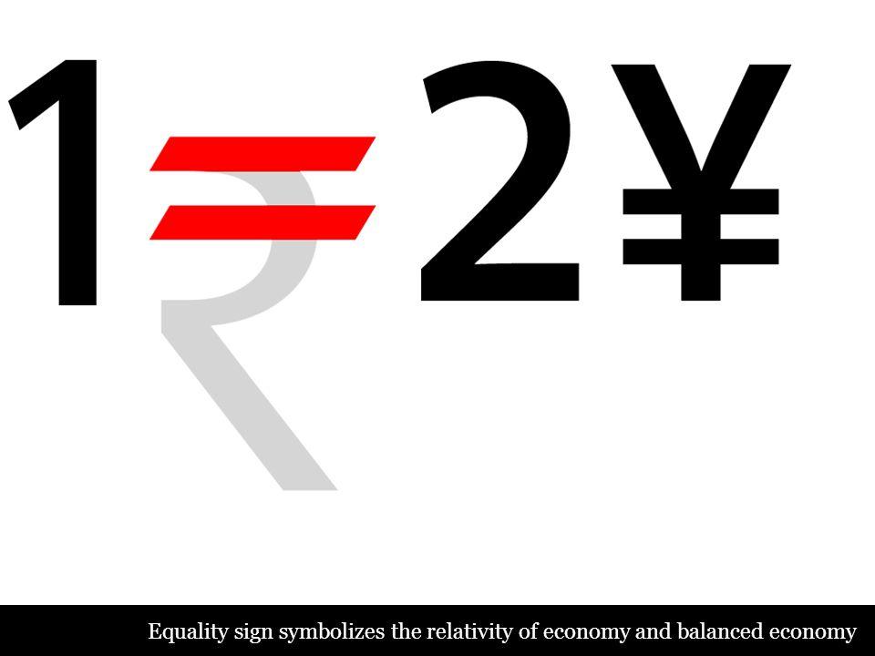 Equality sign symbolizes the relativity of economy and balanced economy