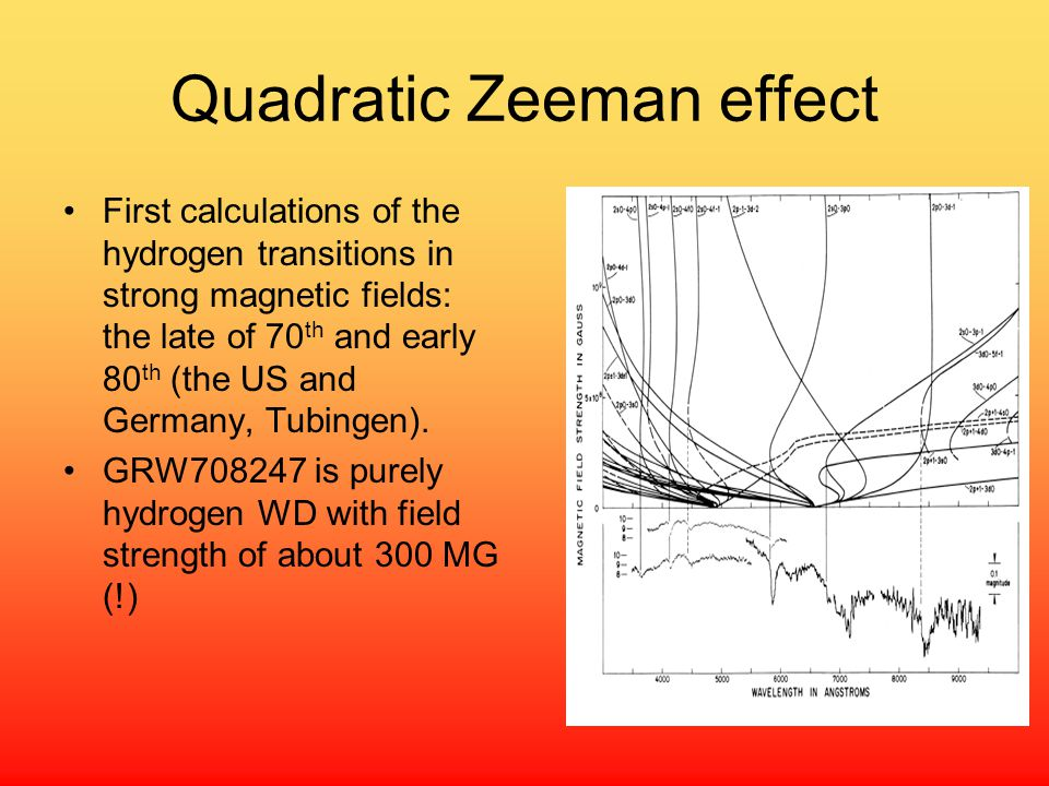 Quadratic Zeeman effect