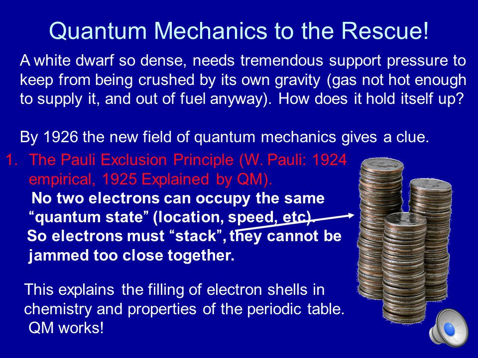 Quantum Mechanics to the Rescue!