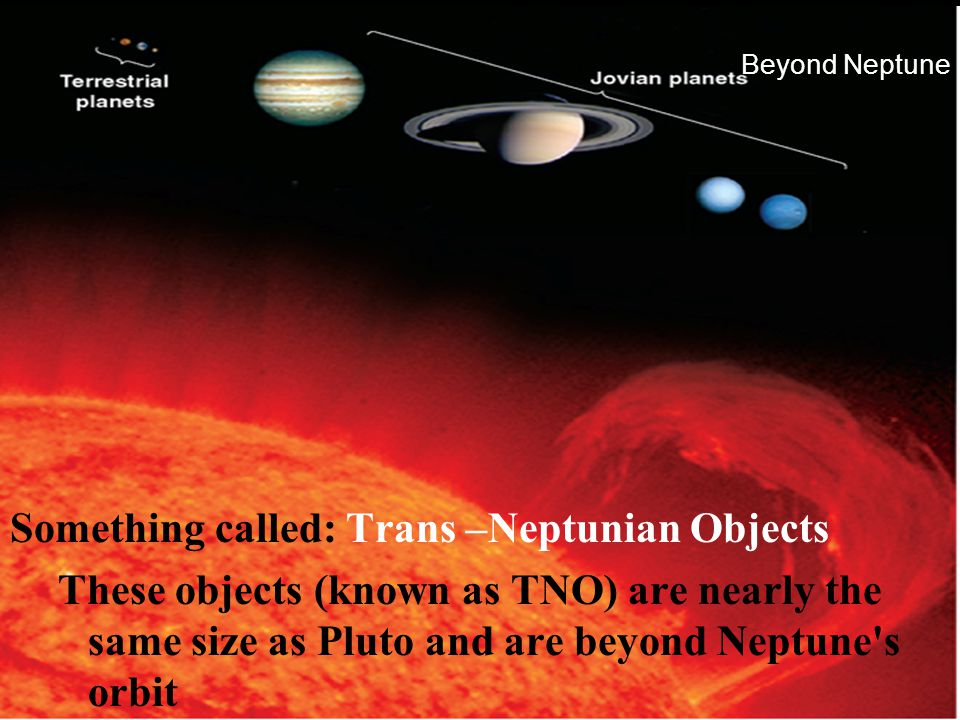 Something called: Trans –Neptunian Objects