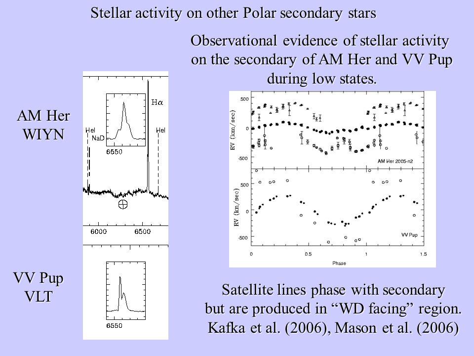 Stellar activity on other Polar secondary stars