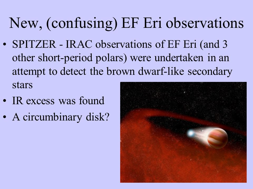 New, (confusing) EF Eri observations