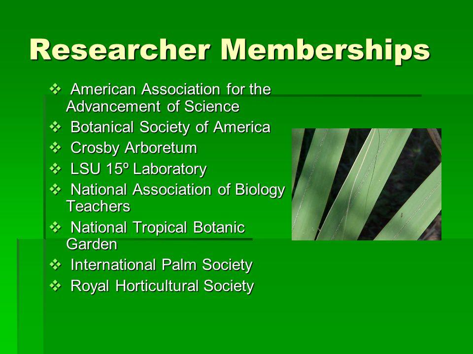 Researcher Memberships