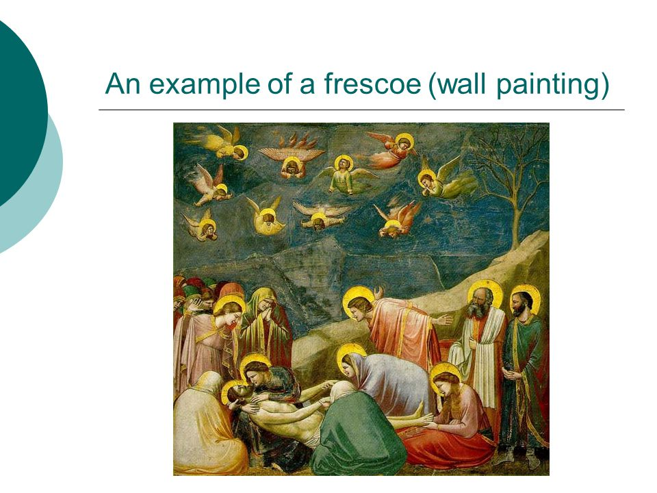 An example of a frescoe (wall painting)