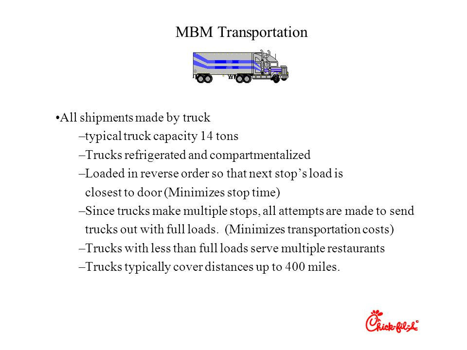 MBM Transportation All shipments made by truck