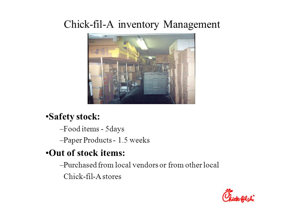 Chick-fil-A inventory Management