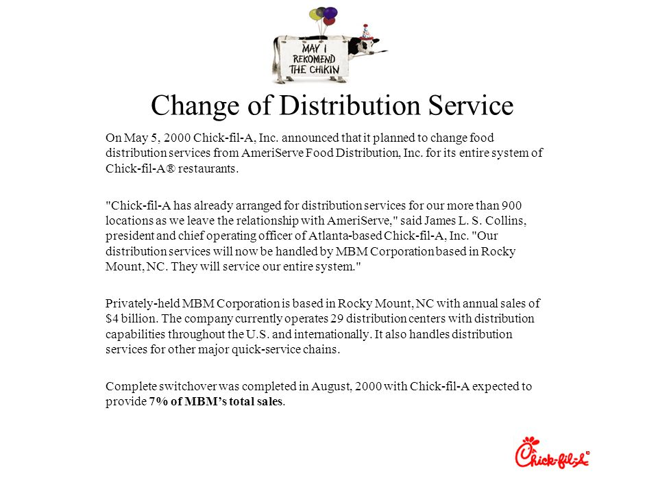 Change of Distribution Service