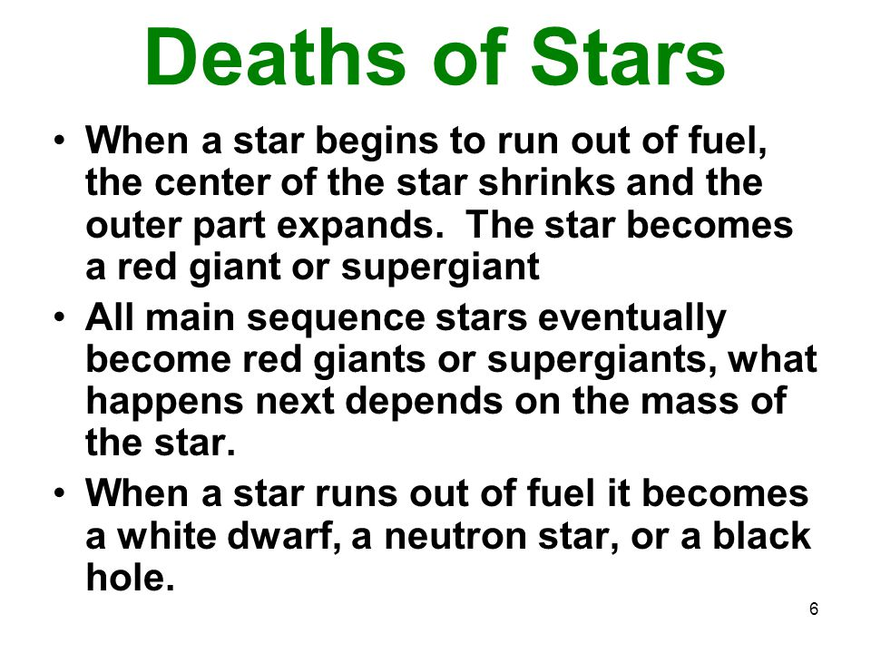 Deaths of Stars