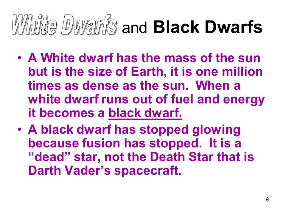 and Black Dwarfs White Dwarfs