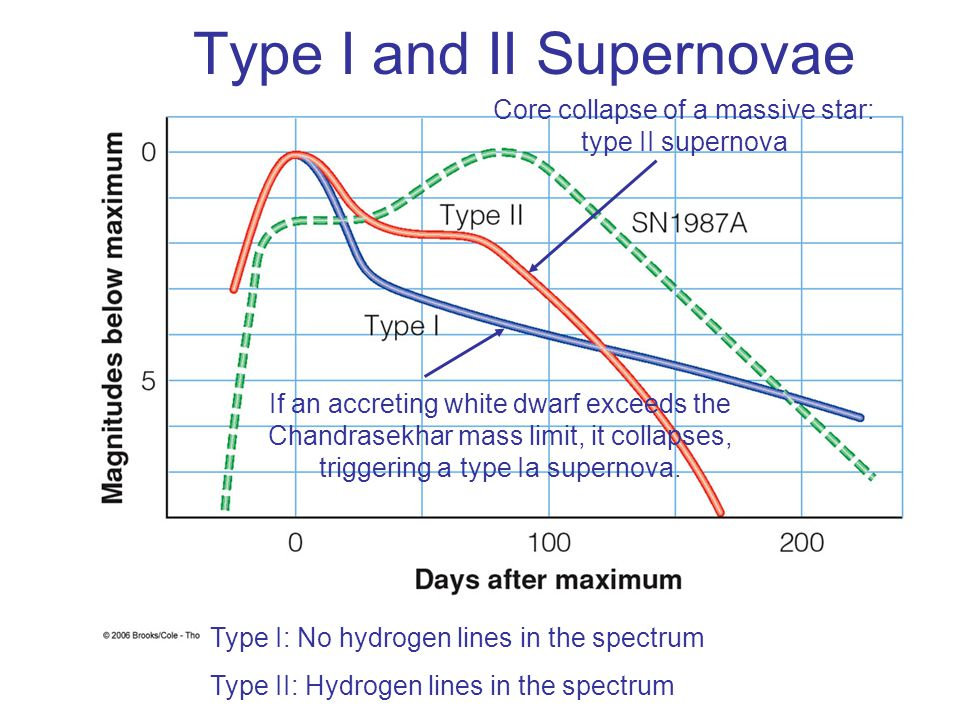 Type I and II Supernovae