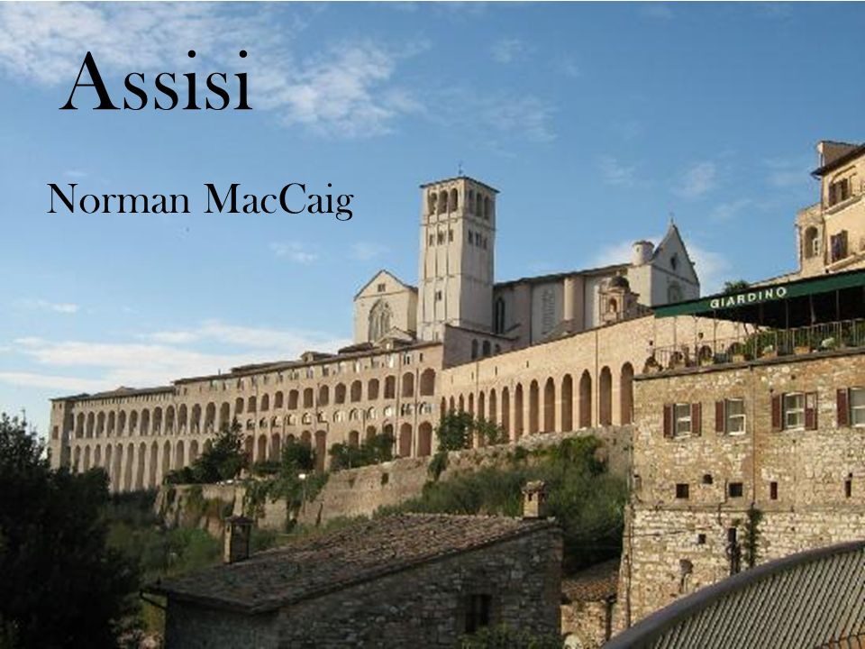 Assisi Norman MacCaig