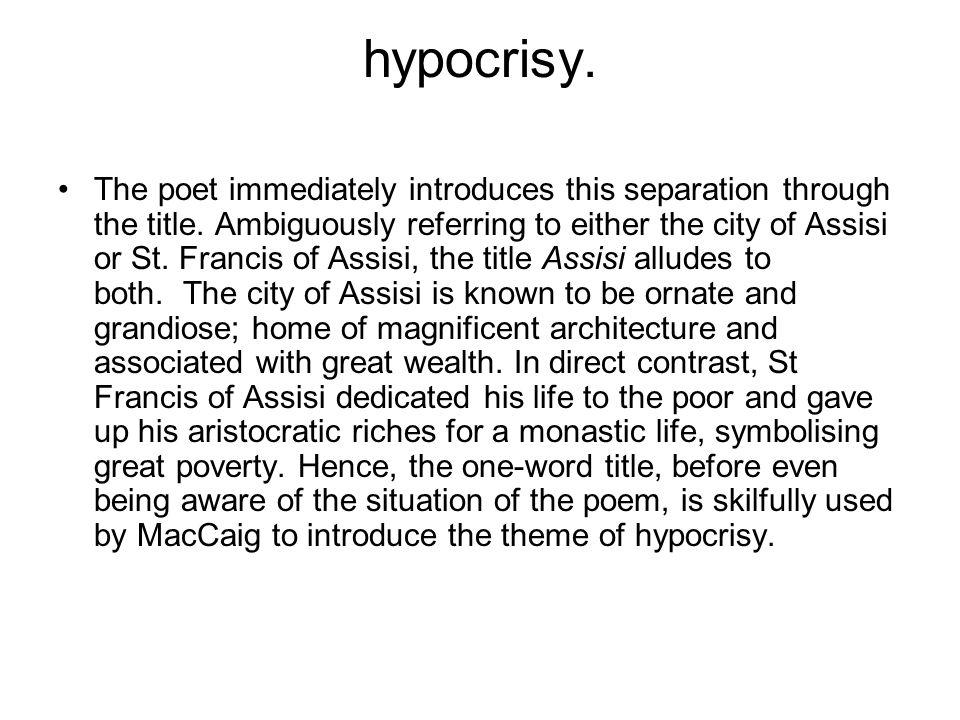 hypocrisy.