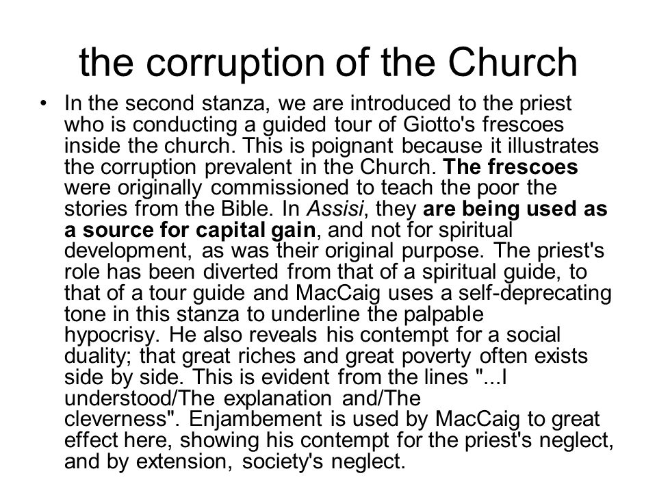 the corruption of the Church