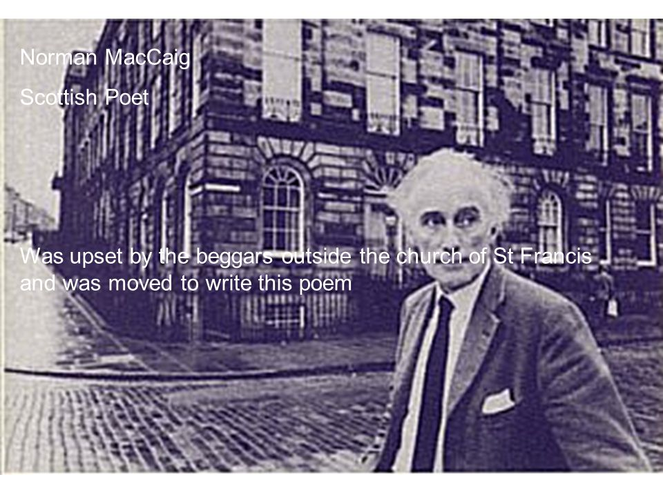 Norman MacCaig Scottish Poet.