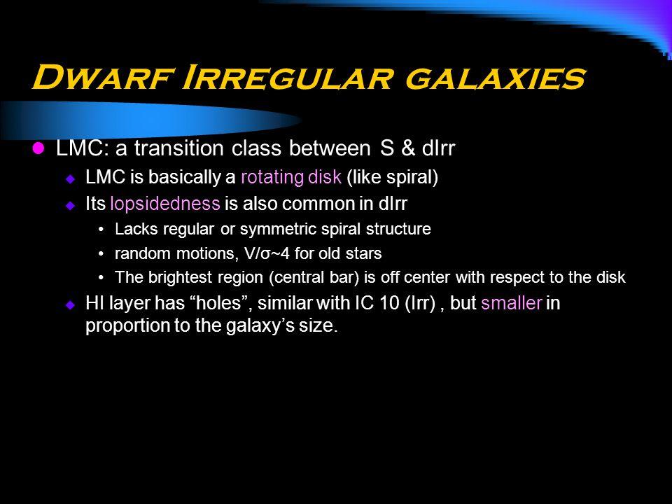Dwarf Irregular galaxies