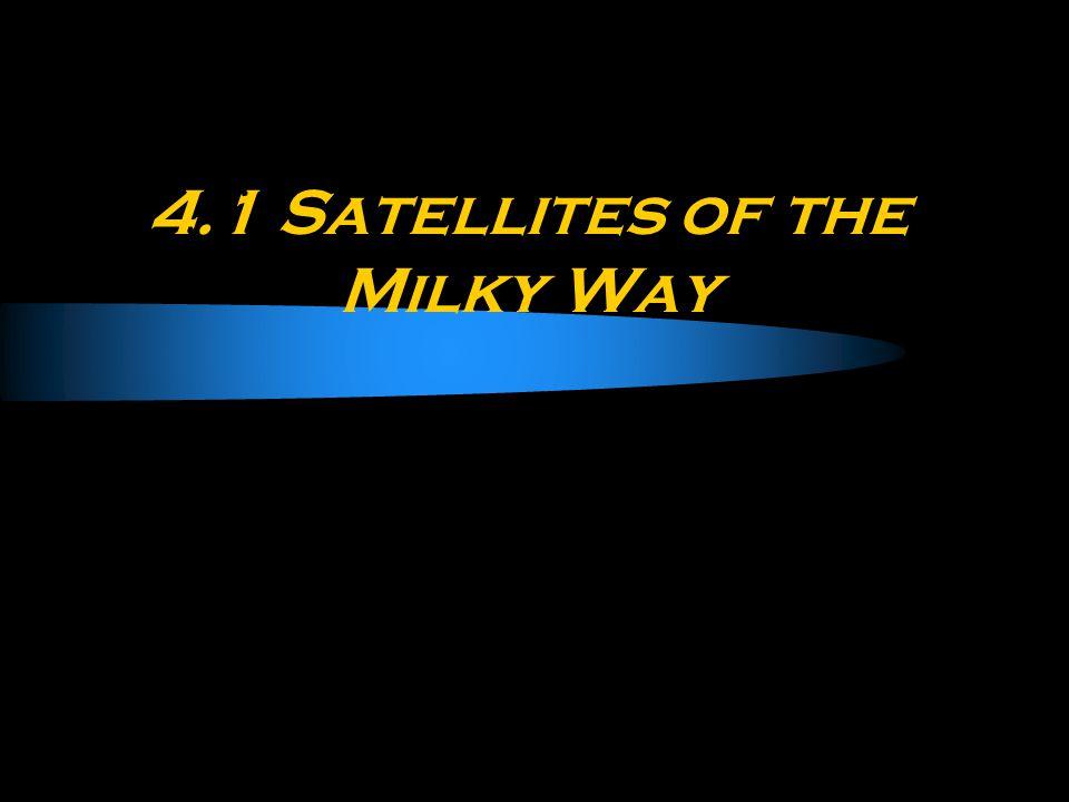 4.1 Satellites of the Milky Way