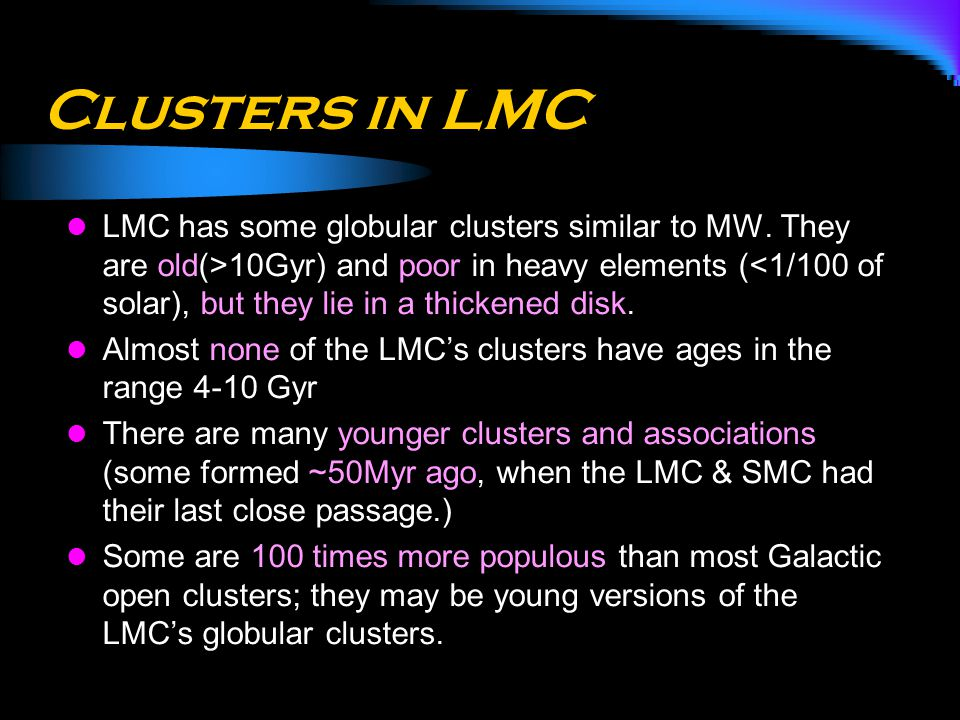 Clusters in LMC