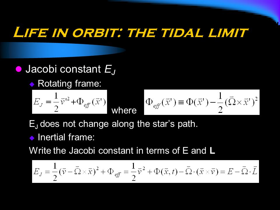 Life in orbit: the tidal limit