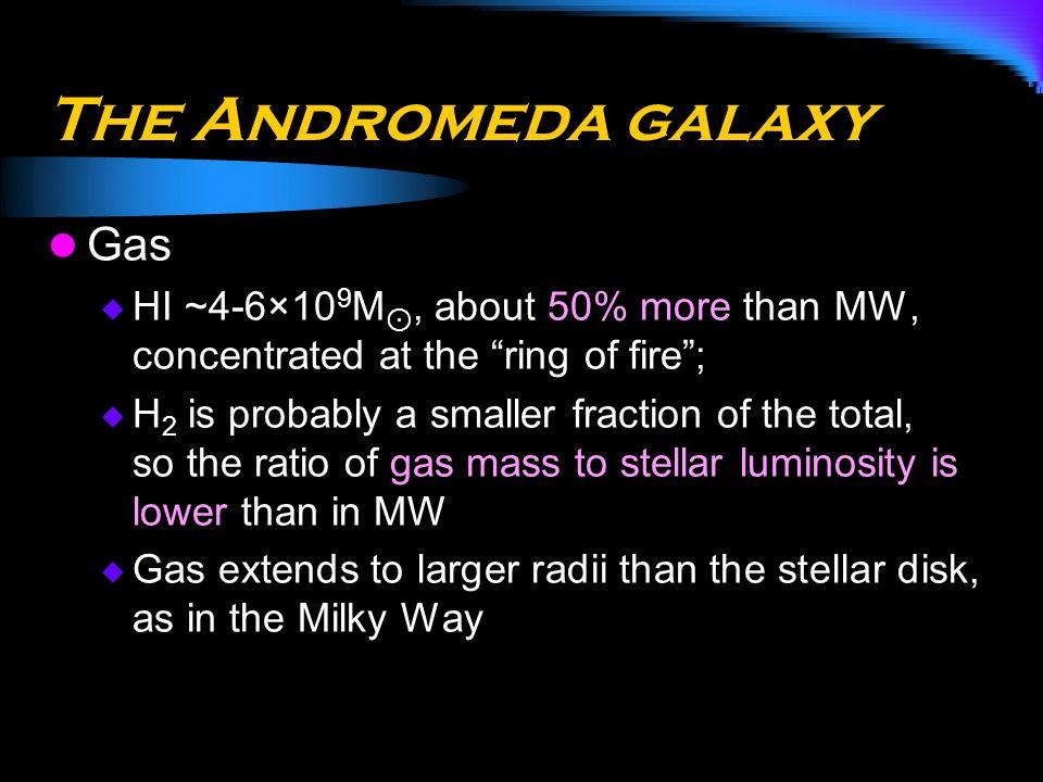 The Andromeda galaxy Gas