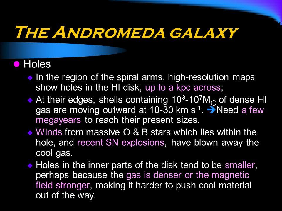 The Andromeda galaxy Holes