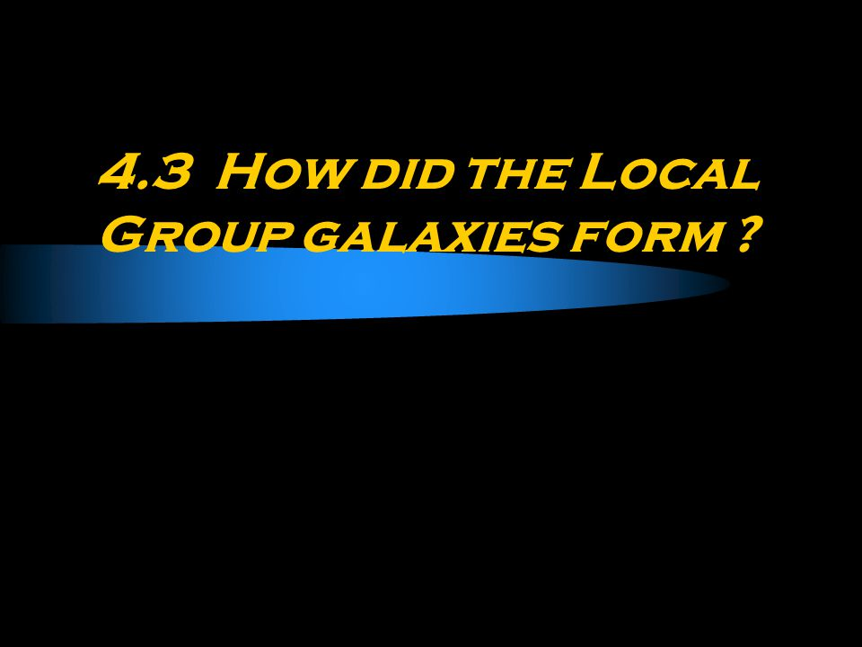 4.3 How did the Local Group galaxies form