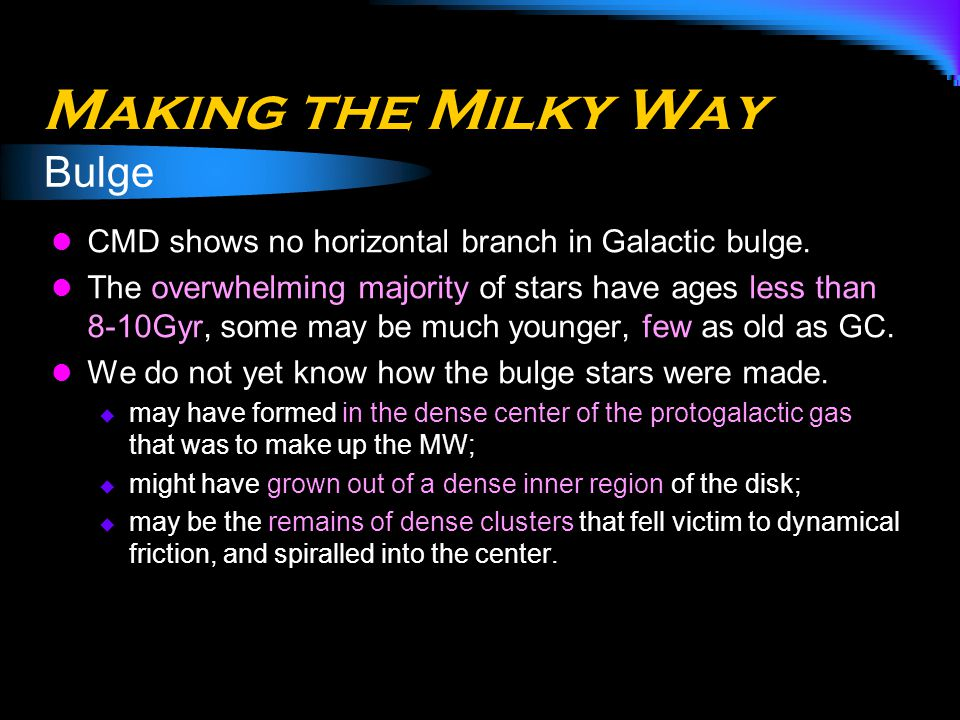 Making the Milky Way Bulge