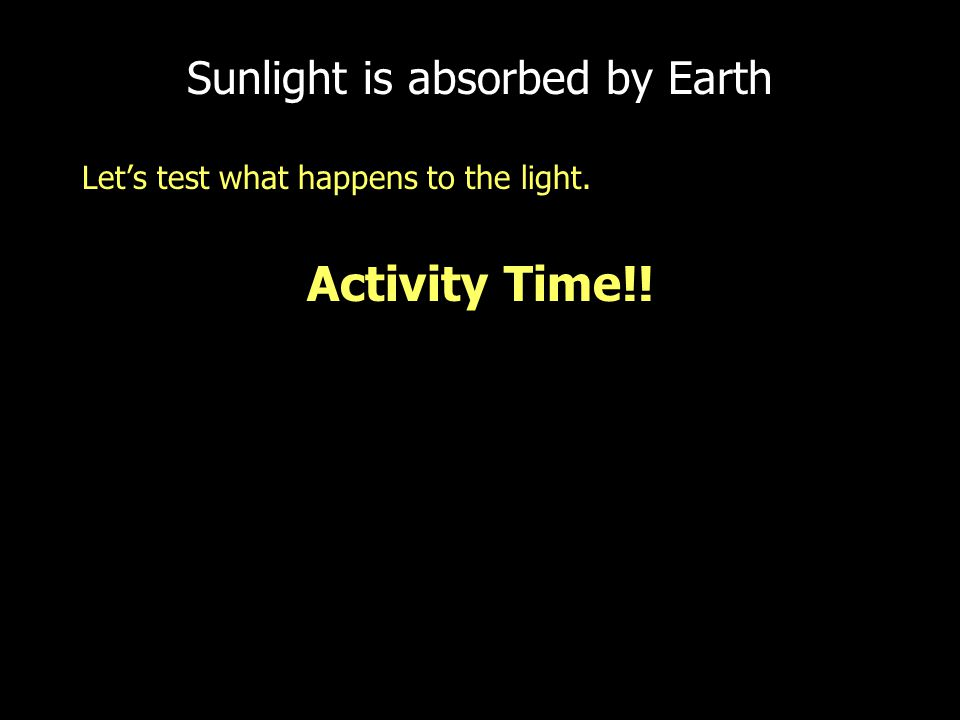 Sunlight is absorbed by Earth