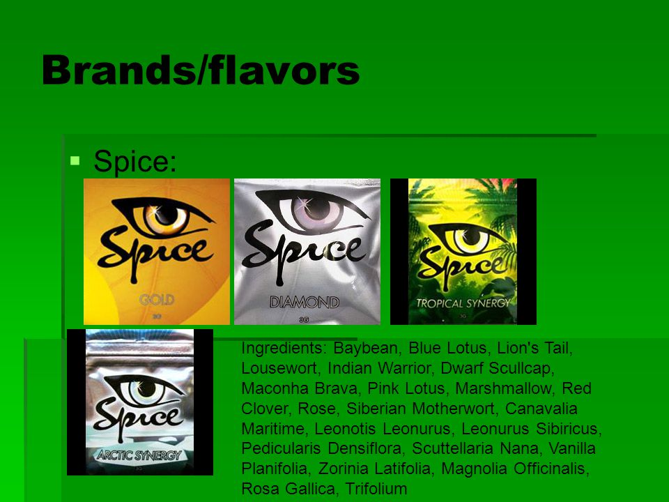 Brands/flavors Spice: