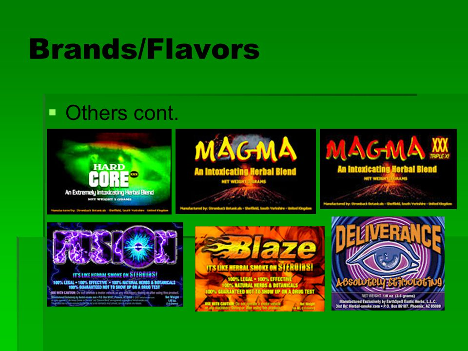 Brands/Flavors Others cont.