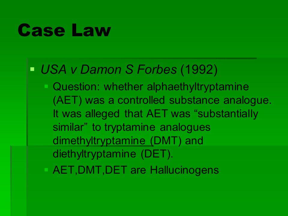Case Law USA v Damon S Forbes (1992)