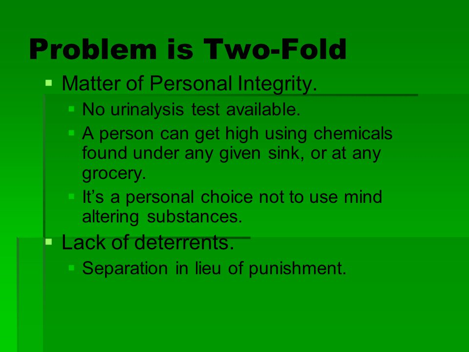 Problem is Two-Fold Matter of Personal Integrity. Lack of deterrents.