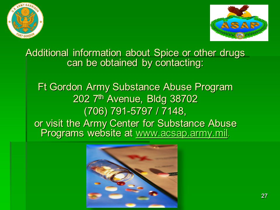 Ft Gordon Army Substance Abuse Program