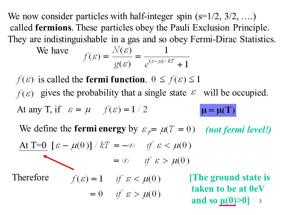 We now consider particles with half-integer spin (s=1/2, 3/2, ….)