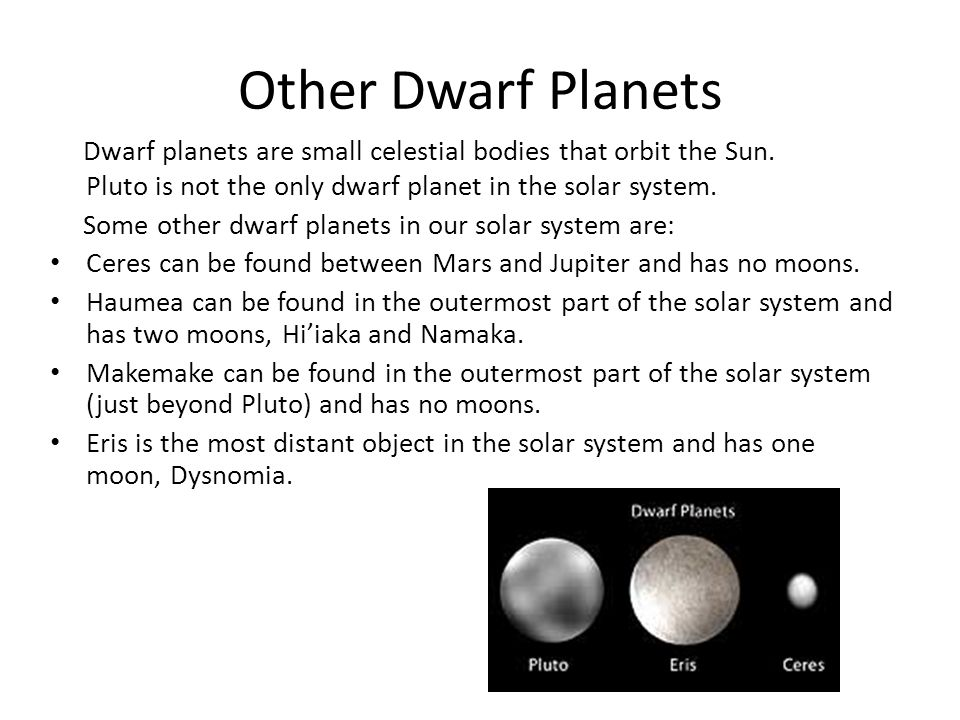 Other Dwarf Planets