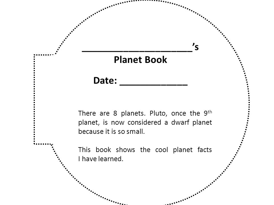 _____________________'s Planet Book