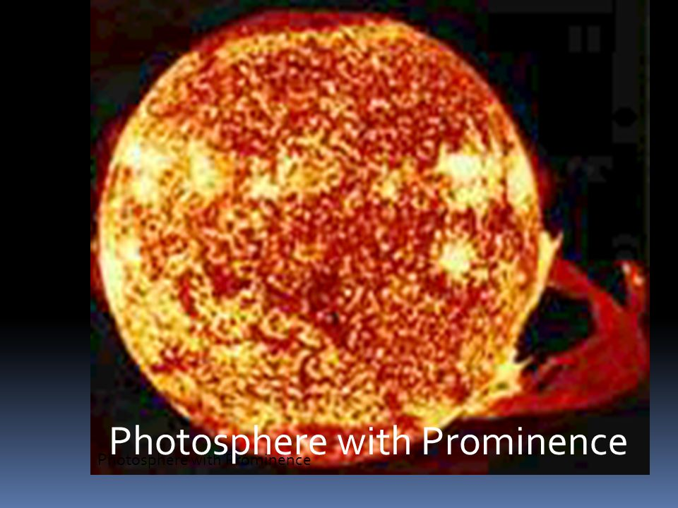 Photosphere with Prominence