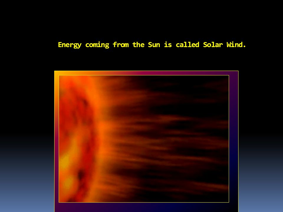 Th e Energy coming from the Sun is called Solar Wind