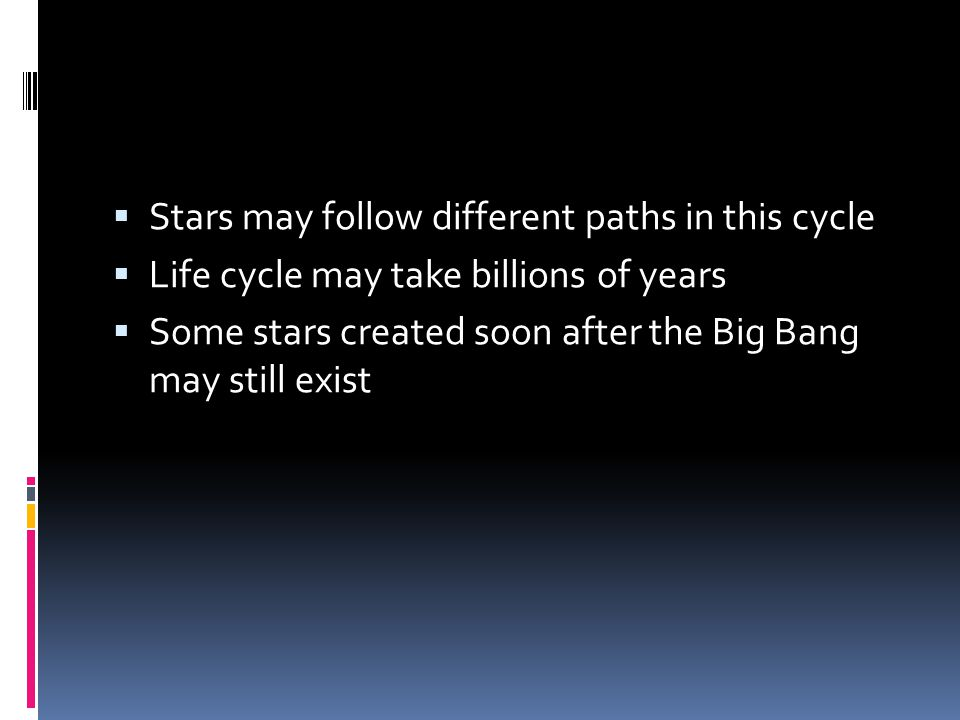Stars may follow different paths in this cycle
