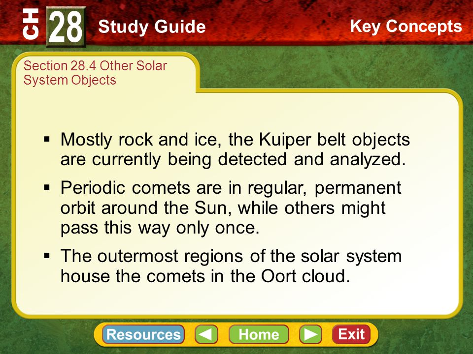 Section 28.4 Other Solar System Objects