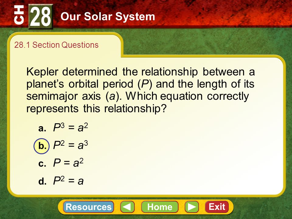 28 Our Solar System. 28.1 Section Questions.