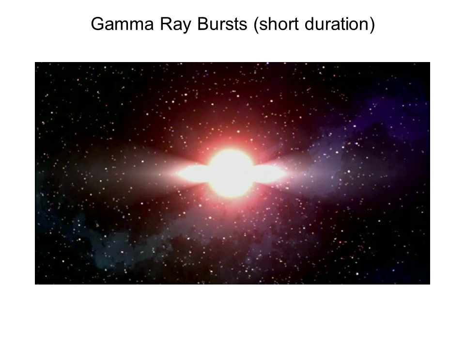 Gamma Ray Bursts (short duration)